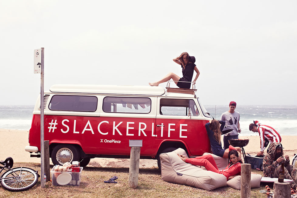 Slackerlife One Piece and bean bags for a chill out summer