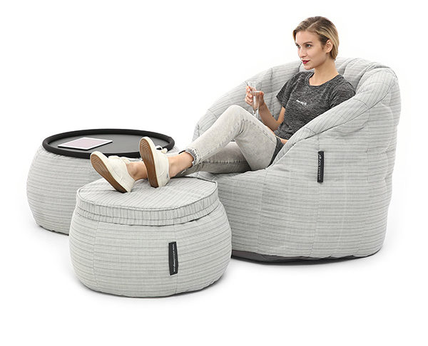 Relax with a gold class bean bag